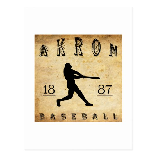 1887 Akron Ohio Baseball Postcard