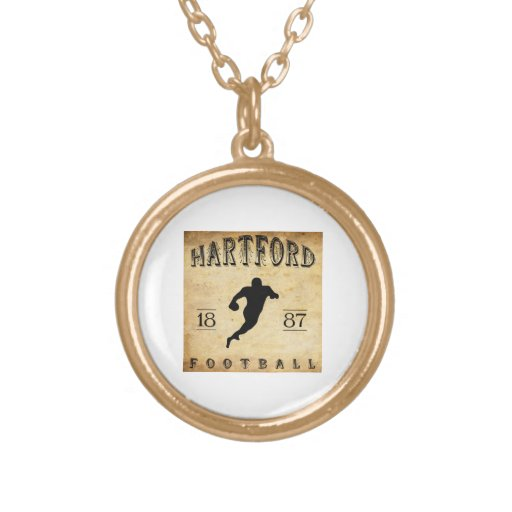 1887 Hartford Connecticut Football Jewelry