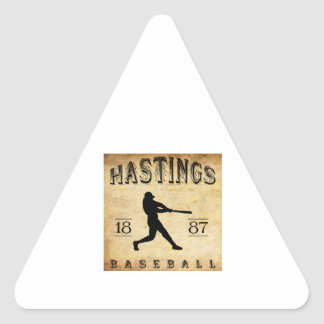 1887 Hastings Nebraska Baseball Triangle Sticker