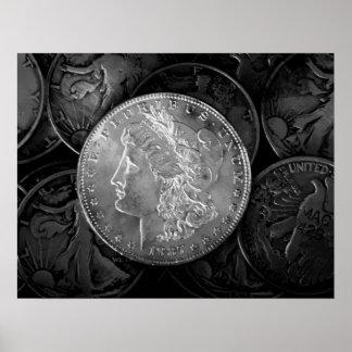 1887 Liberty Silver Dollar Poster