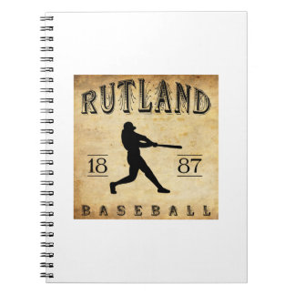 1887 Rutland Vermont Baseball Notebook