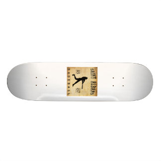 1887 Saint Albans Vermont Baseball Skate Board Deck
