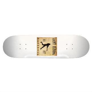 1887 Saint Albans Vermont Baseball Skate Decks