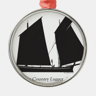 1887 west country lugger - tony fernandes christmas ornament