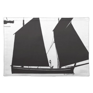 1887 west country lugger - tony fernandes placemat