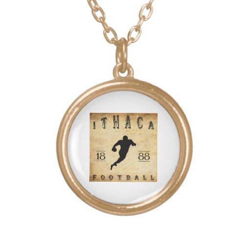1888 Ithaca New York Football Custom Necklace