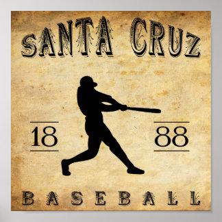 1888 Santa Cruz California Baseball Print