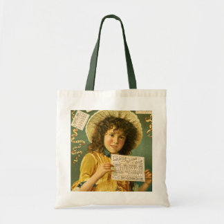 1889 Calendar cute girl Cologne ad Canvas Bags