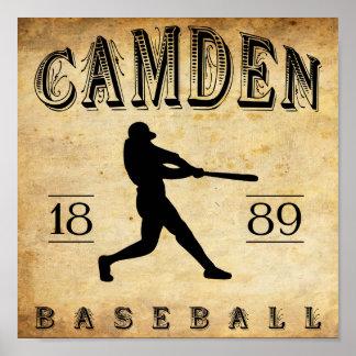 1889 Camden Delaware Baseball Print