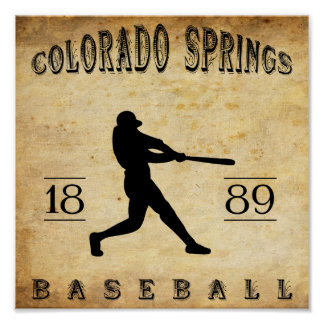 1889 Colorado Springs Colorado Baseball Poster