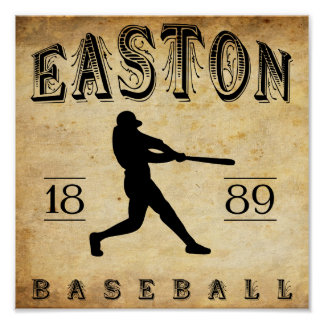 1889 Easton New Jersey Baseball Poster