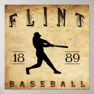 1889 Flint Michigan Baseball Print