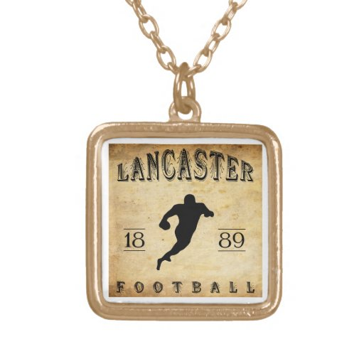 1889 Lancaster Pennsylvania Football Personalized Necklace