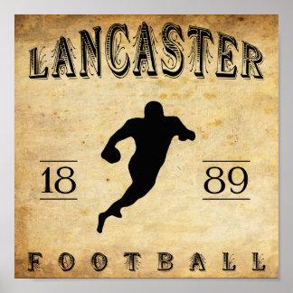1889 Lancaster Pennsylvania Football Print