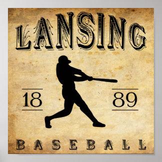 1889 Lansing Michigan Baseball Posters