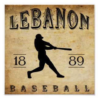 1889 Lebanon Pennsylvania Baseball Poster