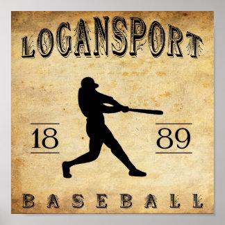 1889 Logansport Indiana Baseball Poster