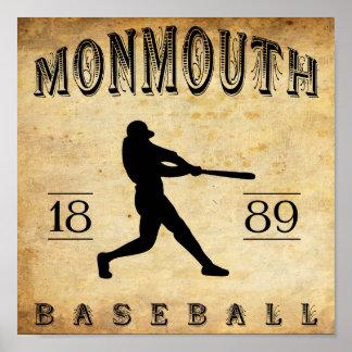 1889 Monmouth Iowa Baseball Posters