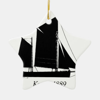 1889 solent ketch - tony fernandes christmas ornament