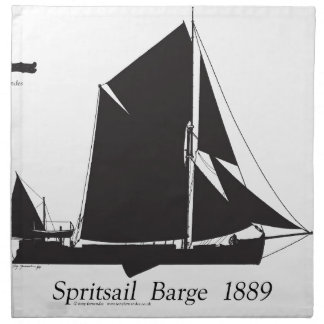 1889 spritsail barge - tony fernandes napkin
