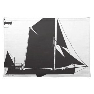 1889 spritsail barge - tony fernandes placemat