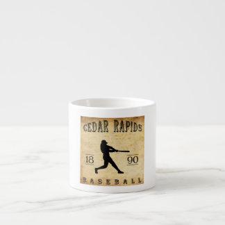 1890 Cedar Rapids Iowa Baseball Espresso Mug