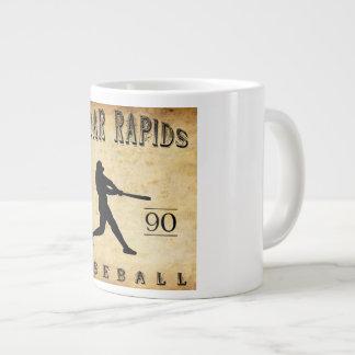 1890 Cedar Rapids Iowa Baseball Jumbo Mug