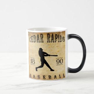 1890 Cedar Rapids Iowa Baseball Morphing Mug