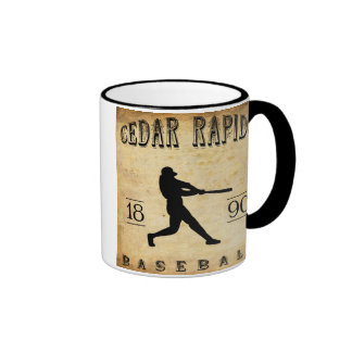 1890 Cedar Rapids Iowa Baseball Ringer Mug
