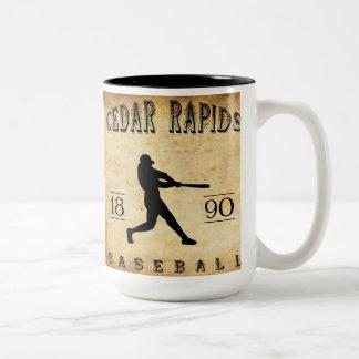 1890 Cedar Rapids Iowa Baseball Two-Tone Mug