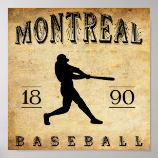 1890 Montreal Quebec Canada Baseball Poster