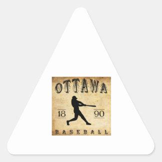 1890 Ottawa Illinois Baseball Sticker