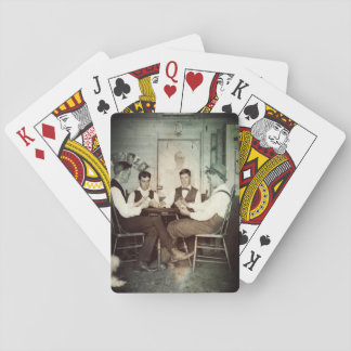 1890 Poker Game Men Gambling Cards Man Cave Photo