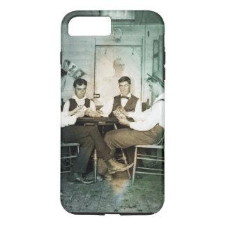 1890 Poker Game Men Gambling Cards Man Cave Photo iPhone 8 Plus/7 Plus Case