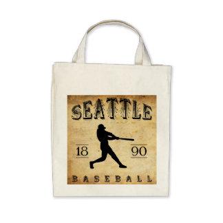 1890 Seattle Washington Baseball Tote Bag