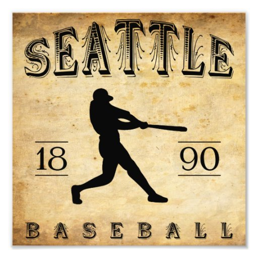 1890 Seattle Washington Baseball Photographic Print