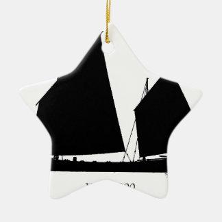 1890 yawl - tony fernandes christmas ornament
