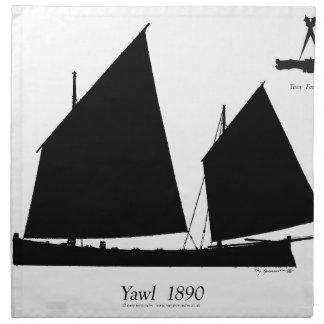 1890 yawl - tony fernandes napkin