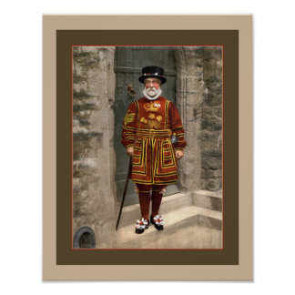 1890s London Yeoman Warder, Beefeater photo Poster