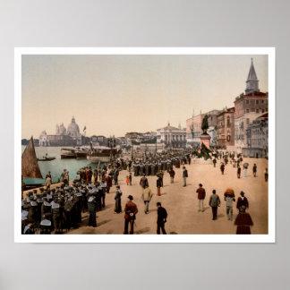 1890s Riva degli Schiavoni, Venice, Italy photo Poster