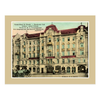 1890s vintage Berlin Grand Hotel Russia Postcard