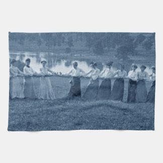 1890's  Women Tug of War Tug-O-War Sports Tea Towel