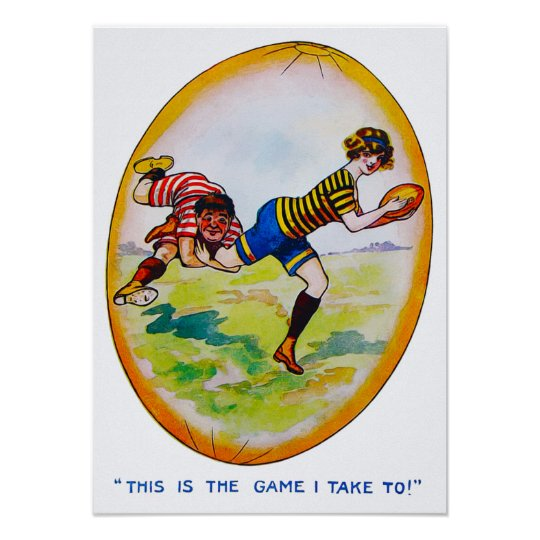 1890's Women's Rugby - Archival Print