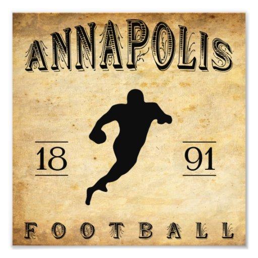 1891 Annapolis Maryland Football Photograph
