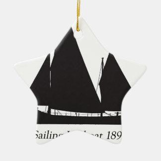 1891 sailing lifeboat - tony fernandes christmas ornament