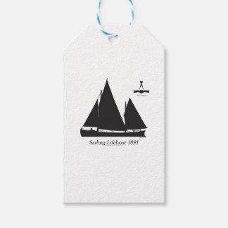 1891 sailing lifeboat - tony fernandes gift tags