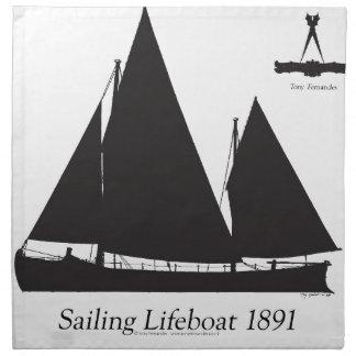 1891 sailing lifeboat - tony fernandes napkin
