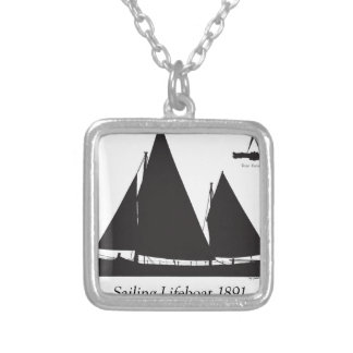 1891 sailing lifeboat - tony fernandes silver plated necklace