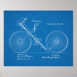 1891 Vintage Bicycle Patent Blueprint Art Print