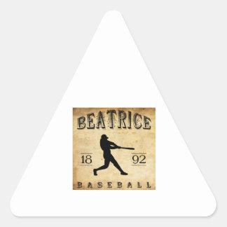 1892 Beatrice Nebraska Baseball Sticker